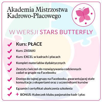 Kurs PŁACE – Pakiet Stars Butteffly