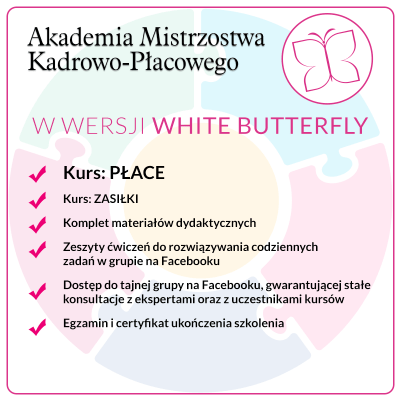 Kurs PŁACE – Pakiet White Butterfly