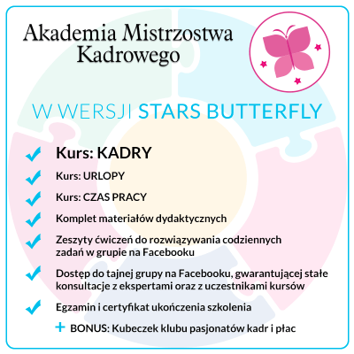 Kurs KADRY – Pakiet Stars Butterfly