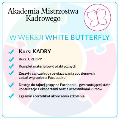 Kurs KADRY – Pakiet White Butterfly