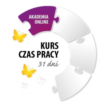 """Akademia Online: Książka """"Czas Pracy"""" + Kurs Czas Pracy IV"""
