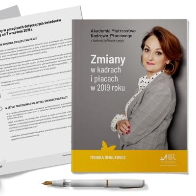 """Publikacja """"Zmiany w kadrach i płacach w 2019 roku"""" + Webinar"""