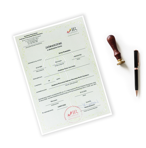 kurs kadry i płace certyfikat MEN